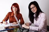 Two Businesswomen Are Working