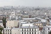 Paris Skyline In Rainy, Gloomy Weather. Paris, France. poster