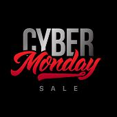 Cyber Monday Sale Handmade Lettering, Calligraphy For Banners, Labels, Badges, Prints, Posters, Web. poster