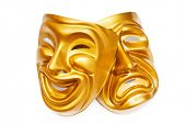 image of pantomime  - Masks with the theatre concept - JPG