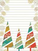 bunte Weihnachten Bäume auf blumen dekorativ Hintergrund für Weihnachten & anderen Gelegenheiten.