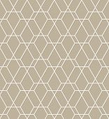 The Geometric Pattern With Lines. Seamless Background. White And Beige Texture. Graphic Modern Patte poster