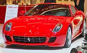 GENEVA - MARCH 8: The Ferrari 599 GTB Fiorano on the 81st International Motor Show Palexpo-Geneva on March 8; 2011 in Geneva, Switzerland.