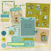 Scrapbook Design Elements - Vintage Photo Camera Scrap -  in vector