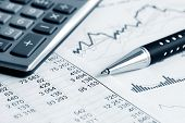 stock photo of financial management  - Financial graphs and charts - JPG