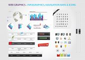 Web graphic collection - infographics