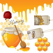 Honey icons set EPS 10