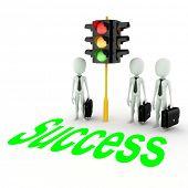 3d man gren light for business!