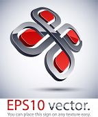 Vector illustration of 3D abstract business icon.