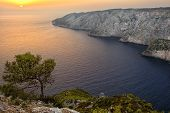 A Picturesque Sunset View At Kampi, Zakynthos Island, Greece