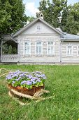 Village house with flowerbed, terrace in Vologda, Russia