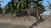 cerantosaurus on shore