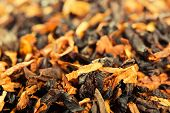 Closeup view of smoking tobacco
