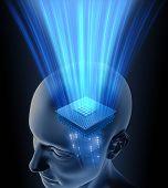 Cabeça cérebro processador