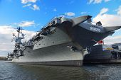 NEW YORK CITY - NOV 2: USS Intrepid (CV/CVA/CVS-11), is one of 24 Essex-class aircraft carriers buil