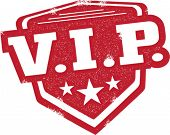 VIP Very Important Person Badge Stamp