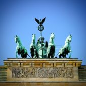 The Quadriga on top of the Brandenburg gate, Berlin