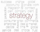 STRATEGY. Word collage on white background