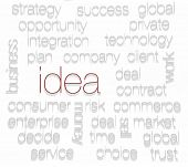 IDEA. Word collage on white background