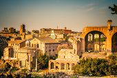 Ruins of Forum in Rome, Italy