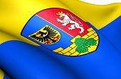 Flagge von Görlitz, Deutschland.