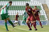 KAPOSVAR, HUNGARY - AUGUST 26: Krisztian Kirchner  (in green) in action at a Hungarian Championship