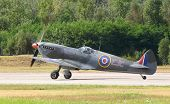 PILSEN, CZECH REPUBLIC - AUGUST 25: Most popular british fighter plane from second world war Superma