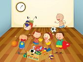 illustration of kids playing in a room