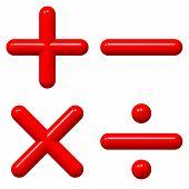Red Math Symbols