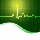 Fondo cardiograma. EPS 10.