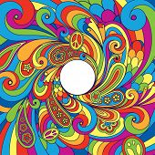 picture of hippies  - background in retro style - JPG