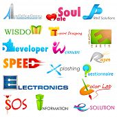 pic of sos  - illustration of set of symbol for logo designing - JPG