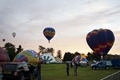 NORTHAMPTON, ENGLAND - AUGUST 18: Hot Air Balloons launching at the Northampton Balloon Festival, on