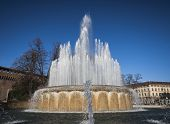 Fountain at the Sforza Castle