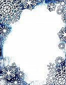 Grungy Snowflake Frame