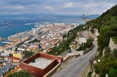 picture of gibraltar  - Skyline of Gibraltar from the Rock of Gibraltar - JPG