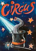 Cartaz engraçado de circo