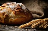 Traditionelles Brot frisch gebacken