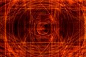 Abstract Background With Fire Vortices