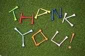 Golf Tee Thank You