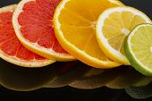 slices of an orange. photo icon for healthy vitamins with fresh fruit