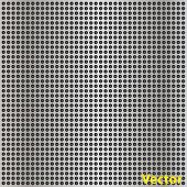 Vector concept conceptual gray metal stainless steel aluminum perforated pattern texture mesh backgr