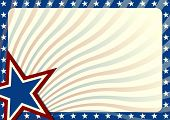 foto of democracy  - detailed illustration of a stars and stripes background - JPG
