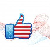 vector american flag design in social media concept