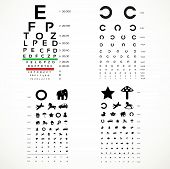 Various Versions Of The Table For Eye Tests  The Adult And Children's Options