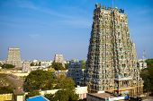 MADURAI, INDIA - MARCH 3: Meenakshi temple - one of the biggest and oldest Indian temples on March 3