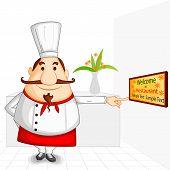 Chef welcoming in Restaurant