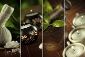 image of ayurveda  - Spa theme collage composed of a few images - JPG