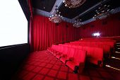 MOSCOW - SEPTEMBER 4: Big hall of cinema in GUM, on September 4, 2012 in Moscow, Russia. Comfortable