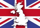 United Kingdom Map And Flag